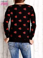 Czarna bluza w arbuzy z wiązaniem                                  zdj.                                  2