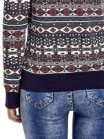 Czarna bluza w azteckie wzory                                                                          zdj.                                                                         5