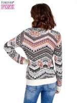 Czarna bluza w azteckie wzory                                  zdj.                                  4