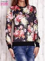 Czarna bluza z kwiatowym motywem                                                                          zdj.                                                                         3