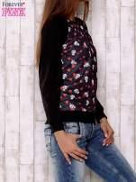 Czarna bluza z nadrukiem pand