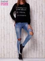Czarna bluza z napisem                                  zdj.                                  2