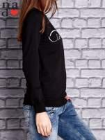 Czarna bluza z napisem LOVE                                  zdj.                                  3