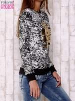 Czarna bluza ze złotym motywem                                  zdj.                                  3