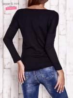 Czarna bluzka z cekinowym okiem                                  zdj.                                  2