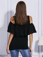 Czarna bluzka z falbaną                                  zdj.                                  2