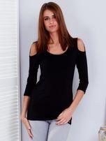 Czarna bluzka z paskami na ramionach                                  zdj.                                  1