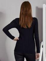 Czarna bluzka z zatrzaskami przy dekolcie                                   zdj.                                  2