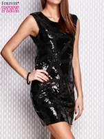 Czarna cekinowa sukienka                                  zdj.                                  3
