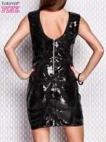 Czarna cekinowa sukienka                                  zdj.                                  2