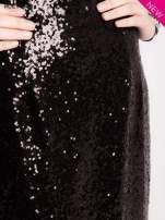 Czarna cekinowa sukienka z transparentną górą                                  zdj.                                  6