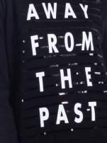 Czarna damska bluza z napisem AWAY FROM THE PAST                                                                          zdj.                                                                         5