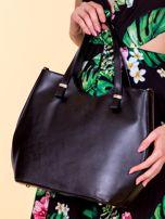 Czarna damska torba skórzana z odpinanym paskiem                                  zdj.                                  1