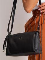 Czarna damska torebka skórzana                                  zdj.                                  2