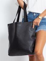 Czarna duża torba z flamingiem                                  zdj.                                  2