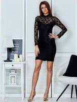 Czarna elegancka koronkowa sukienka                                  zdj.                                  4