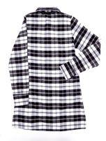 Czarna flanelowa sukienka dla dziewczynki w kratę                                  zdj.                                  2