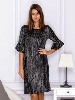 Czarna melanżowa sukienka                                  zdj.                                  1