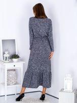 Czarna melanżowa sukienka maxi z falbaną                                  zdj.                                  2
