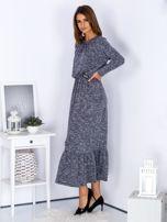 Czarna melanżowa sukienka maxi z falbaną                                  zdj.                                  3