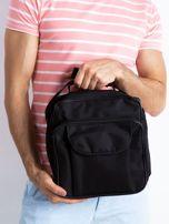 Czarna męska torba z kieszenią                                  zdj.                                  1