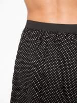 Czarna mini spódnica w kropki                                  zdj.                                  7