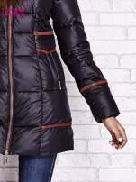 Czarna ocieplana kurtka z futrzanym wykończeniem kaptura                                  zdj.                                  7