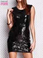 Czarna ołówkowa sukienka z cekinami                                  zdj.                                  1