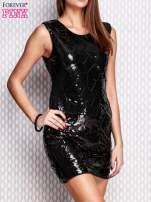 Czarna ołówkowa sukienka z cekinami                                  zdj.                                  3