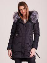 Czarna pikowana kurtka na zimę                                  zdj.                                  1