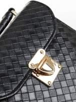 Czarna pikowana mini torebka kuferek w stylu retro                                  zdj.                                  7