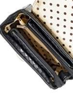 Czarna pikowana mini torebka kuferek w stylu retro                                  zdj.                                  9
