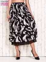 Czarna plisowana spódnica midi z brokatem                                  zdj.                                  1
