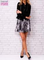 Czarna siatkowa sukienka z grafitowym dołem                                  zdj.                                  5