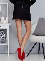 Czarna spódnica trapezowa z suwakiem                                  zdj.                                  2