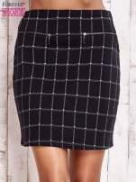 Czarna spódnica z graficznym wzorem i suwakami                                  zdj.                                  1