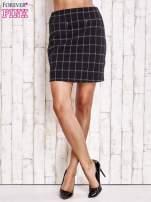Czarna spódnica z graficznym wzorem i suwakami                                  zdj.                                  2