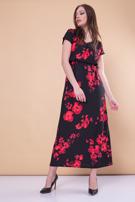 Czarna sukienka maxi w kwiaty                                  zdj.                                  3