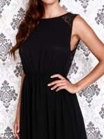 Czarna sukienka maxi z koronkowym tyłem                                                                          zdj.                                                                         5