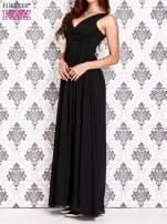 Czarna sukienka maxi z odkrytymi plecami                                  zdj.                                  3