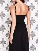 Czarna sukienka maxi z odkrytymi plecami                                                                          zdj.                                                                         5