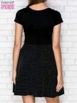 Czarna sukienka retro w groszki                                  zdj.                                  2