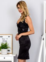Czarna sukienka z cekinowymi wstawkami                                  zdj.                                  3