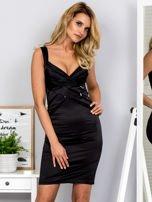Czarna sukienka z cekinowymi wstawkami                                  zdj.                                  1