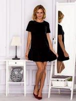 Czarna sukienka z falbaną                                  zdj.                                  4