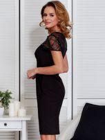 Czarna sukienka z siateczkową górą                                  zdj.                                  5