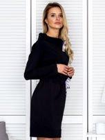 Czarna sukienka z wstążkami                                   zdj.                                  3