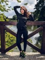 Czarna termoaktywna bluza do biegania z fluozielonymi wstawkami ♦ Performance RUN