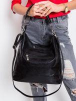 Czarna torba damska z ekoskóry                                  zdj.                                  3