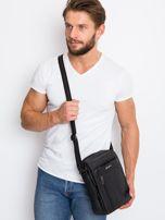 Czarna torba dla mężczyzny ze skóry                                  zdj.                                  2